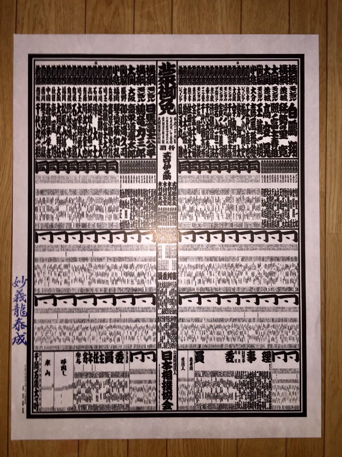 大相撲 初場所 番付